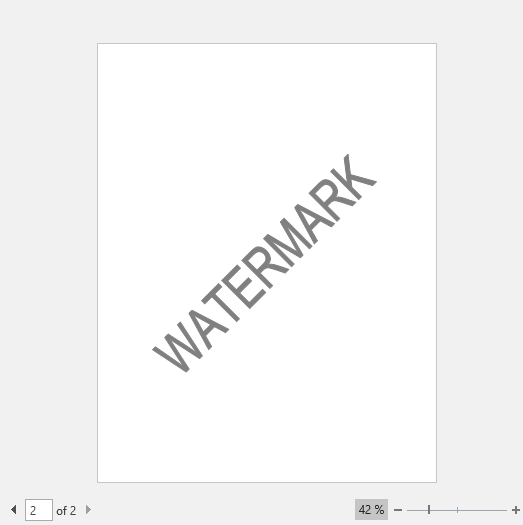 Text Watermark in Word Document