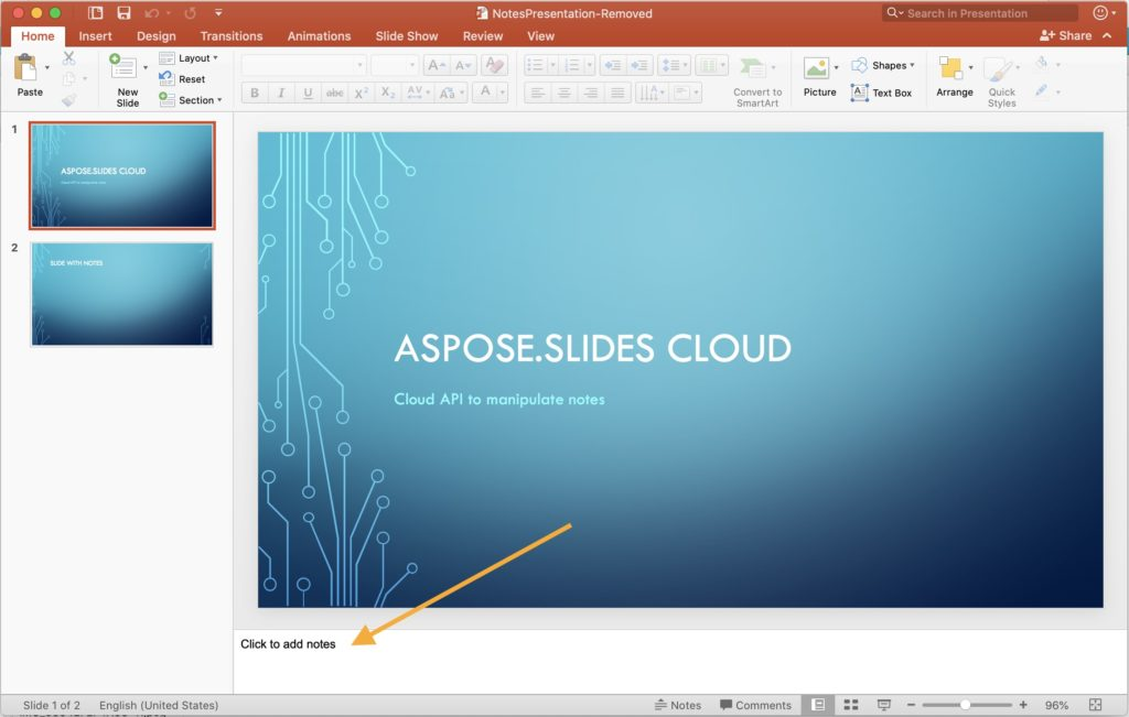 Notes deleted from Slide