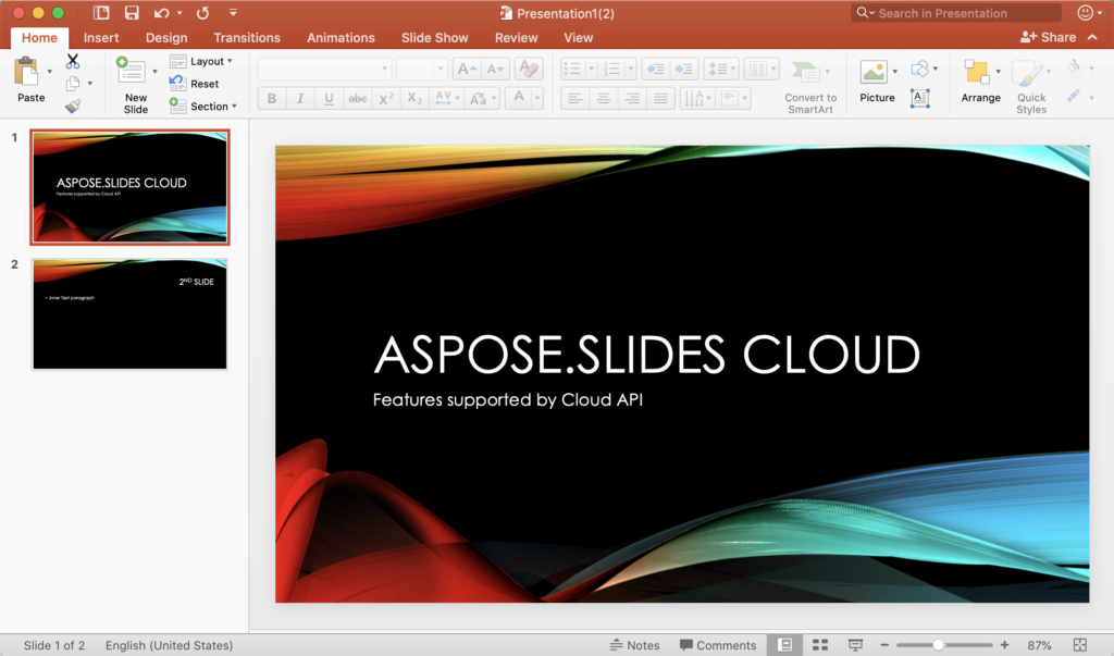 Preview of two slides in PowerPoint Presentation