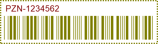 PZN Barcode preview.