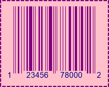 UPCA BarCode preview.