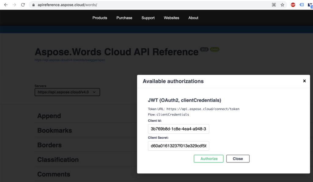 API Reference preview