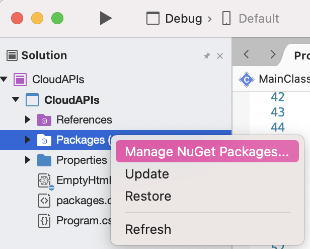 NuGet package manager preview
