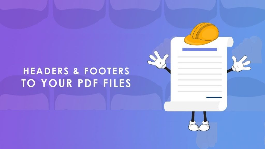 Add Header Footer to PDF