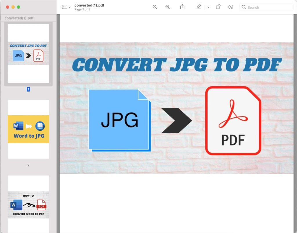 3 images to PDF