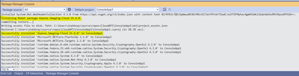 NuGet package installation preview