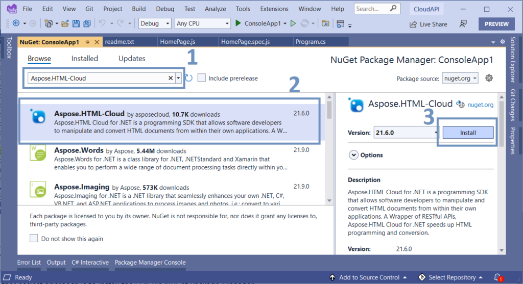 NuGet Package Manager